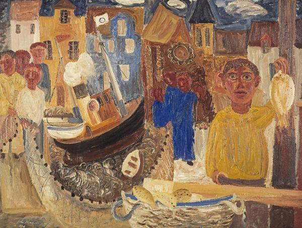 Fish Market (Dated 1934)