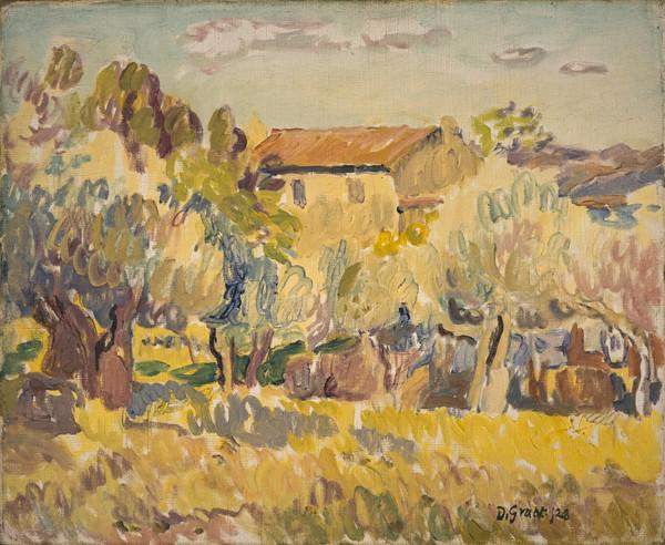 Farmhouse among Trees (Dated 1928)
