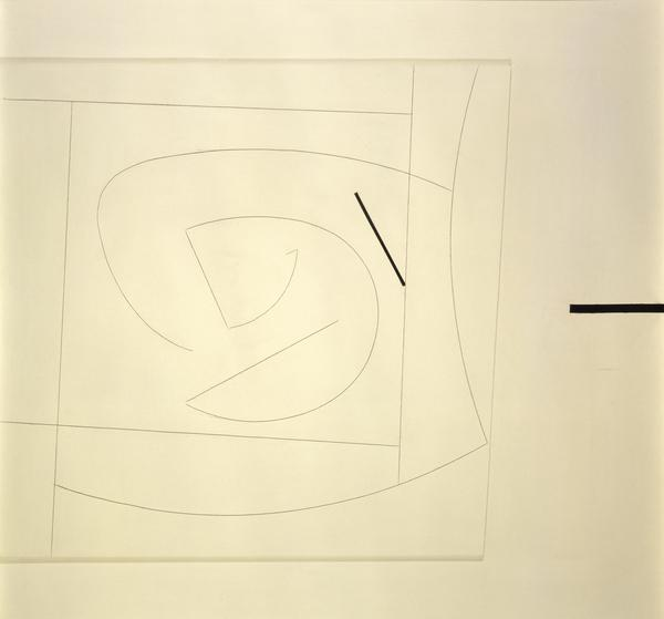 Linear Motif in Black and White (1960 - 1961)