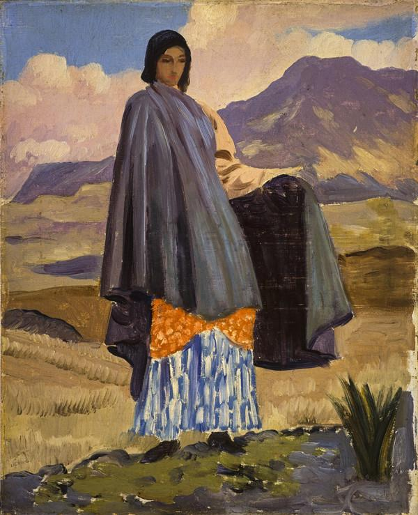 Woman in a Landscape (About 1911 - 1912)
