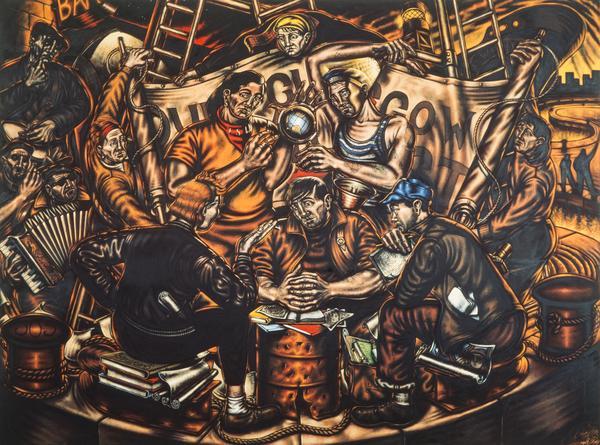 Glasgow Triptych: Young Glasgow Communists (1986)