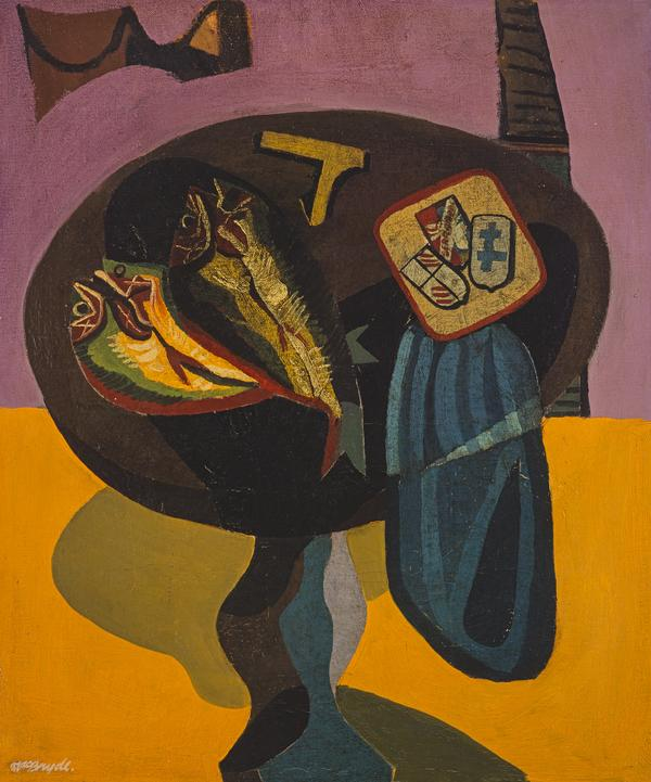 Still Life - Fish on a Pedestal Table (About 1946)
