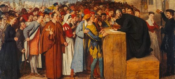Wishart Preaching against Mariolatry (Exhibited 1871 (RSA))