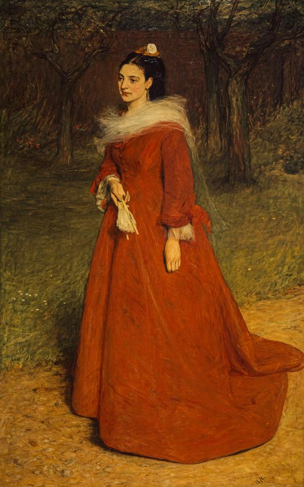 The Artist's Wife (Ellen Moxon, Lady Orchardson, c 1854 - 1917) (Dated 1872)