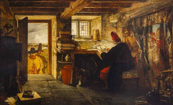 Hudibras and Ralph Visiting the Astrologer (from Butler's 'Hudibras') (Dated 1856)