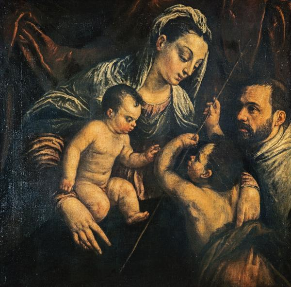 The Virgin and Child with Saint John the Baptist and a Donor (Based on the design of a painting of about 1565 - 1570)