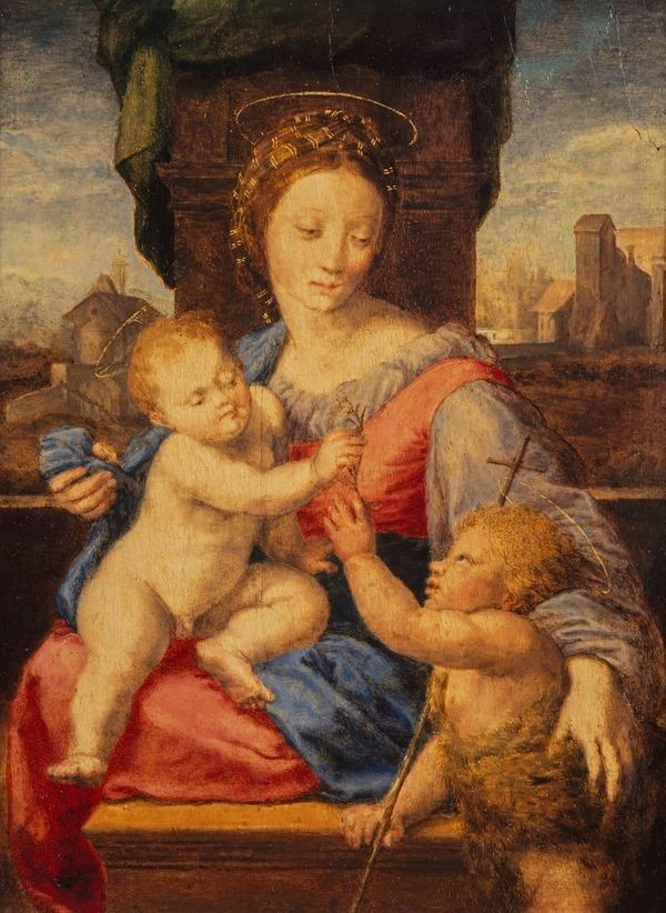 The Virgin and Child with the Infant Saint John the Baptist ('The Aldobrandini or Garvagh Madonna') (probably 17th century)