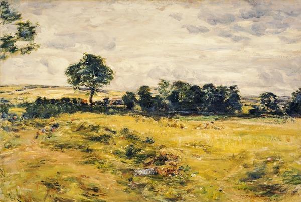 Harvest at Broomieknowe (Dated 1896)