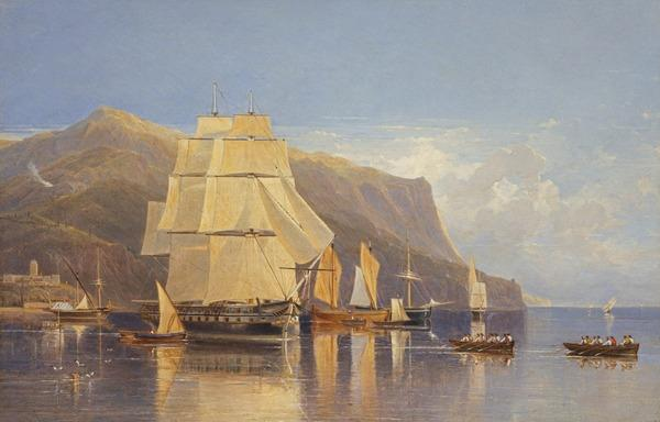 Off Porto Fino (About 1833)