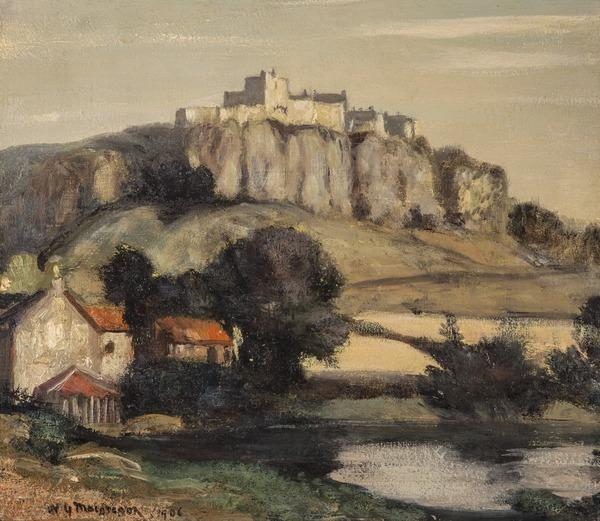 A Castle on a Cliff (Dated 1906)