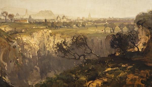 Edinburgh from Craigleith (1899)