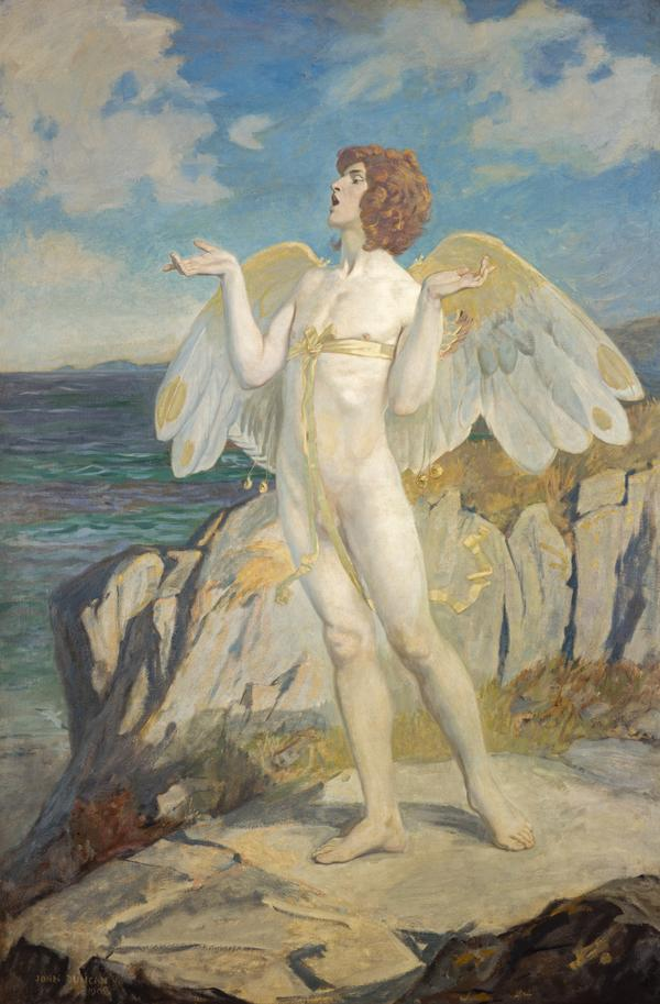 Angus Og, God of Love and Courtesy, Putting a Spell of Summer Calm on the Sea (Dated 1908)