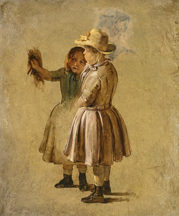 Two Children (study for 'Quitting the Manse' (NG 2308)) (before 1848)