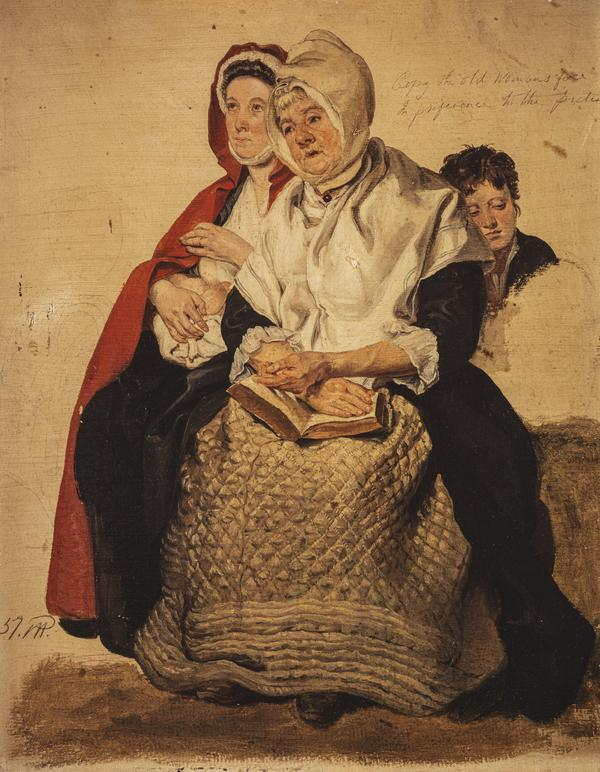 Two Women and a Boy (study for 'The Covenanters Preaching') (About 1830)