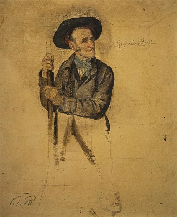 A Man with a Pike (study for 'The Covenanters Preaching') (About 1830)