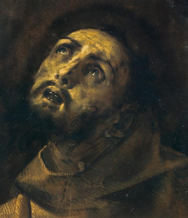 The Head of Saint Francis in Ecstasy (About 1620 - 1632)