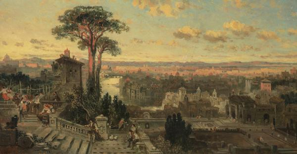 A Study for 'Rome: Sunset from the Convent of Sant' Onofrio on the Janiculum' (NG 304) (About 1856)