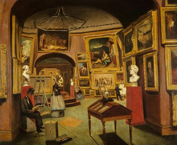 The Interior of the National Gallery of Scotland, c 1867 - 1877 (About 1867 - 1877)