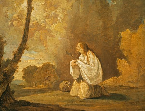 The Penitent St Mary Magdalene in a Landscape