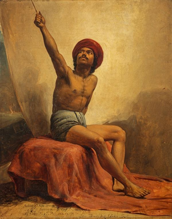 A Life Study of John Mongo ('The Punka-walla') (Dated 1847)
