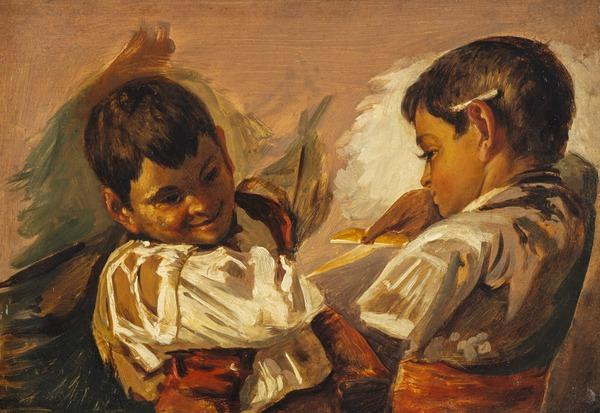 Two Boys: Study after 'Spanish Boys Playing at Bull-fighting' (NG 534)