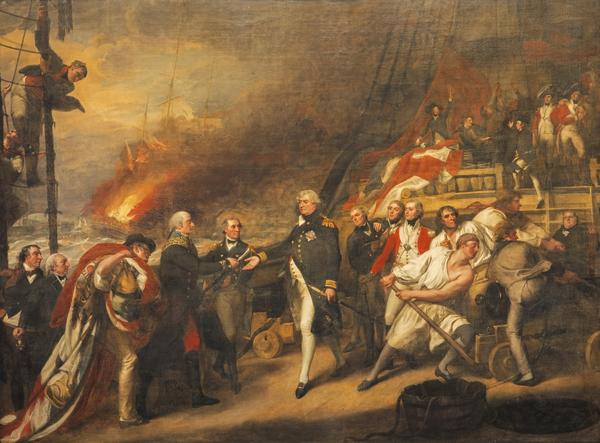 The Surrender of the Dutch Admiral de Winter to Admiral Duncan at the Battle of Camperdown (The Victory of Lord Duncan) (1799)