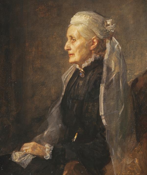 Christina Wilson, Mrs Thomas Steven, 1827 - 1913. (About 1902 - 1904)