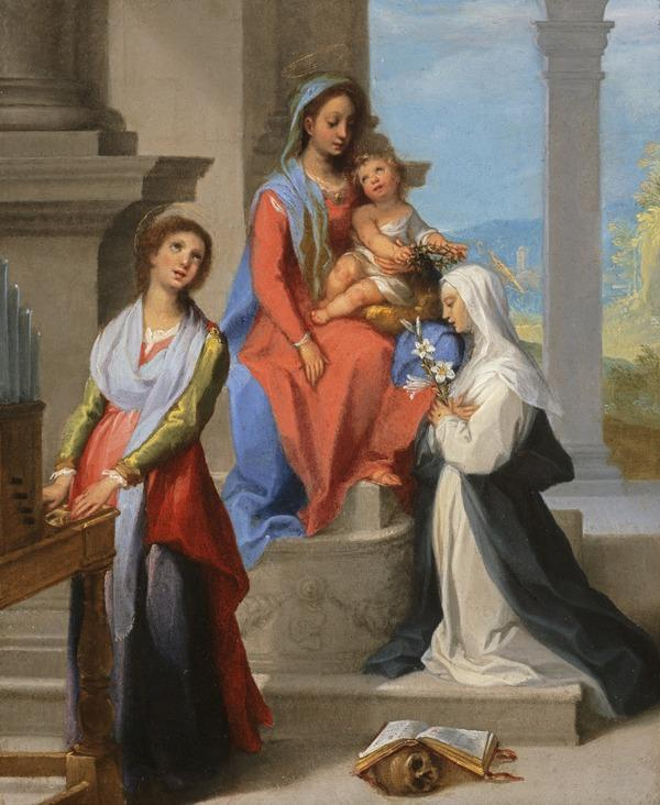 Madonna and Child with Saint Catherine of Siena and Saint Cecilia (early 17th century)