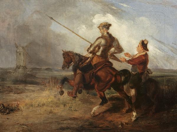 Don Quixote Tilting at a Windmill (before 1832)