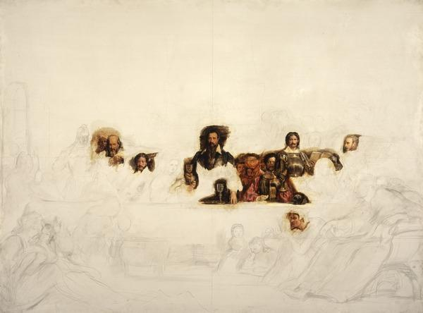 John Knox Dispensing the Sacrament at Calder House (unfinished) (About 1840)