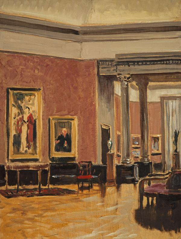 The Interior Of The National Gallery Of Scotland (About 1938)