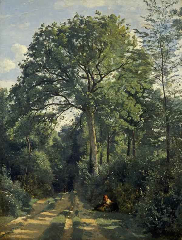 Ville-d'Avray: Entrance to the Wood (About 1825)