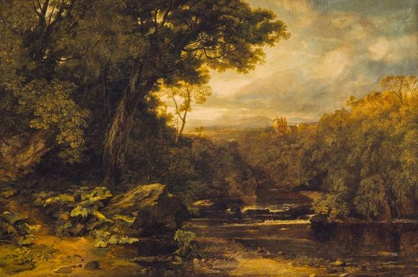 A Lowland River (Dated 1851)