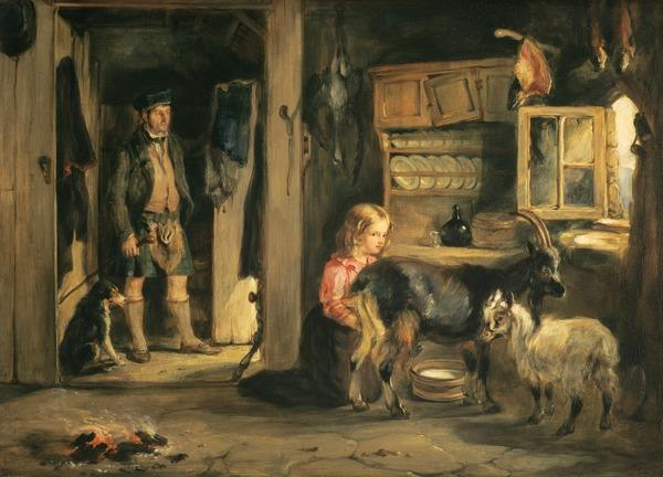 A Goatherd's Cottage (Dated 1832)
