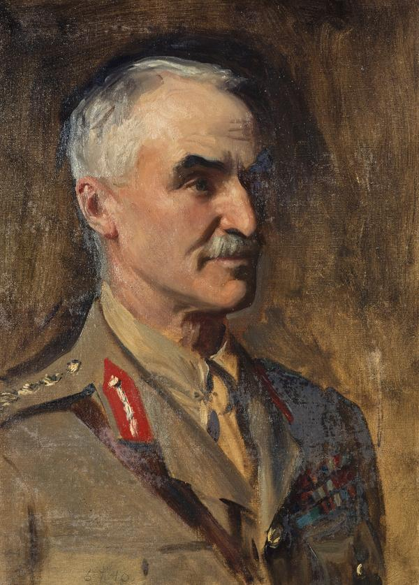General Henry Sinclair, Baron Horne, 1861 - 1929. Soldier (Study for portrait in General Officers of World War I)