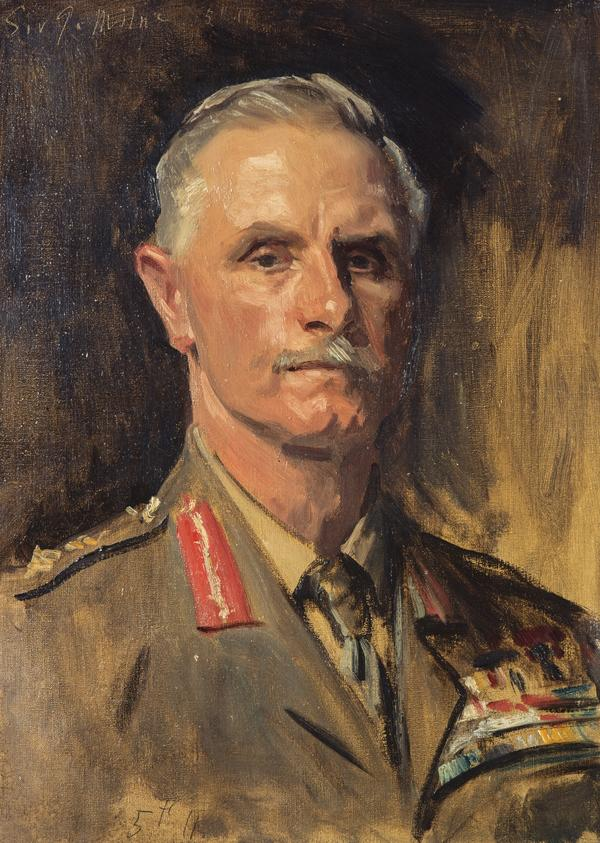 George Francis Milne, 1st Baron Milne, 1866 - 1948. Field-Marshal (Study for portrait in General Officers of World War I, 1914 - 1918) (1920 - 1922)