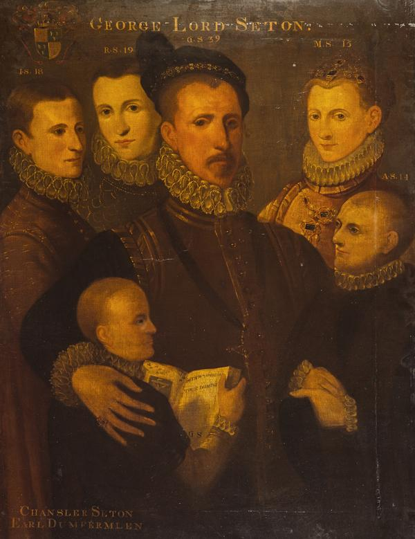 George, 5th Lord Seton and his family (after 1572)