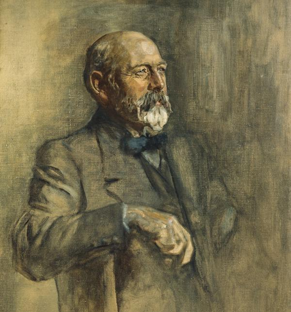Sir Joseph Cook, 1860 - 1947. Prime Minister of Australia. (Study for portrait in Statesmen of the Great War) (1918 - 1930)