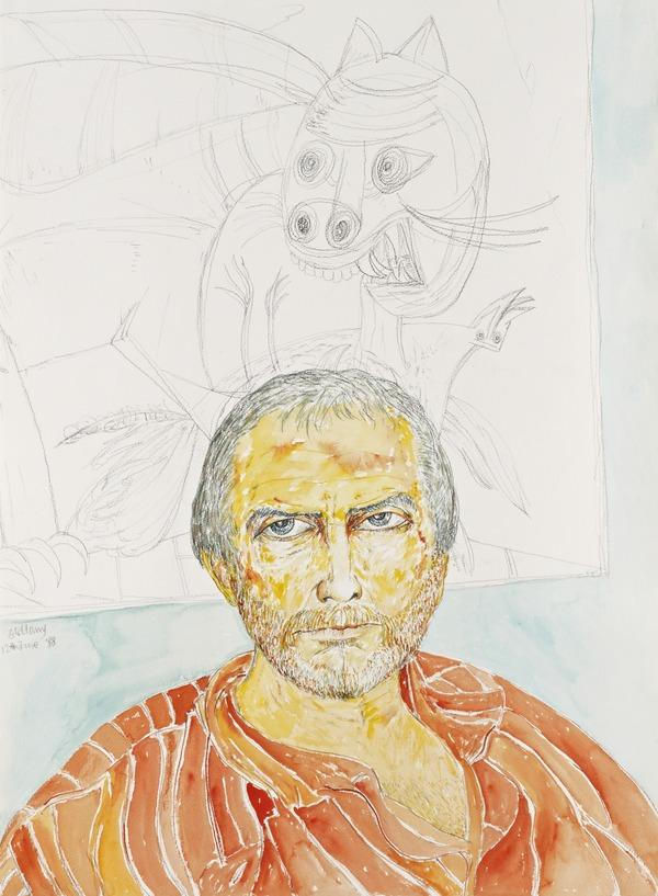 Self-Portrait (from 'The Addenbrookes Hospital Series') (Dated 12 June 1988)