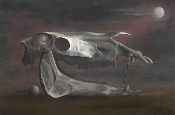 Horse's Skull, Sphere and Moon (1941)