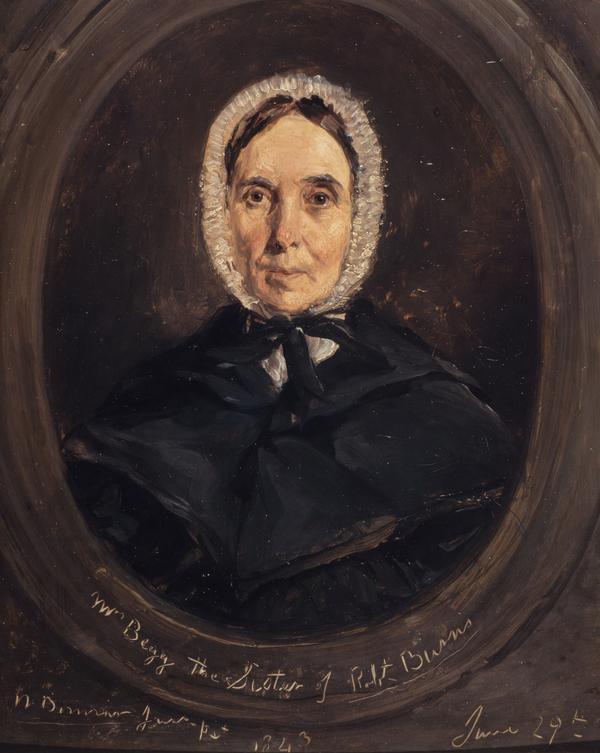 Isabella Burns, Mrs John Begg, 1771 - 1858. Youngest sister of Robert Burns (1843)