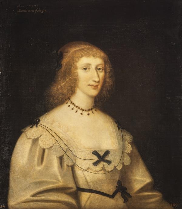 Lady Margaret Douglas, Marchioness of Argyll, 1610 - 1678. Wife of the 1st Marquess of Argyll (Dated 1634)