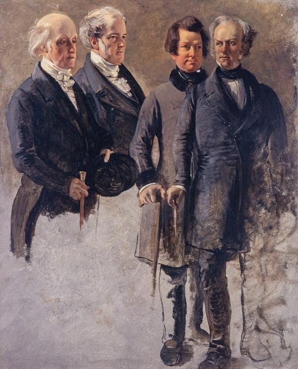The Marquess of Breadalbane with Lord Cockburn, the Marquess of Dalhousie and Lord Rutherfurd (About 1850)