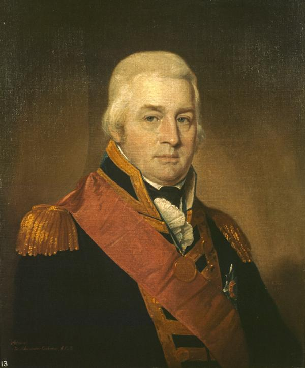 Admiral Sir Alexander Inglis Cochrane, 1758 - 1832. Governor of Guadeloupe (1809)