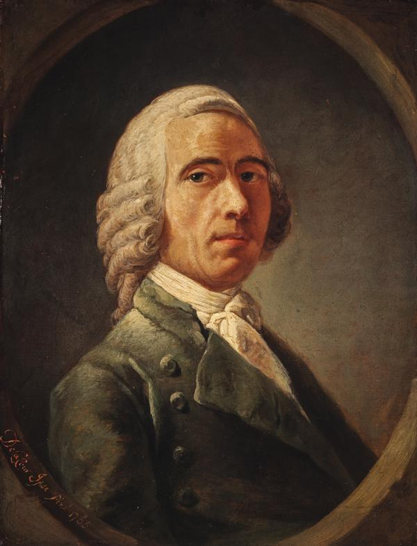 William Delacour, d. 1767 (Self-portrait). First Master of the Trustees' Academy (About 1765)