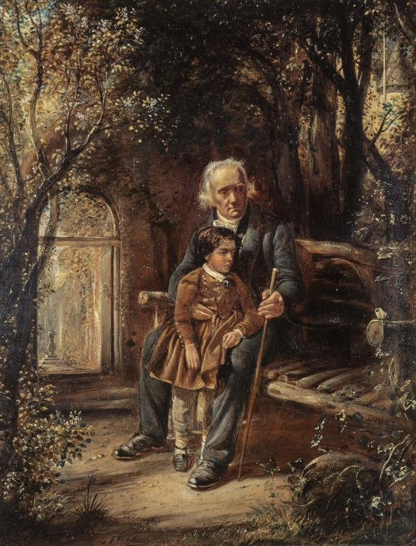 Rev. Thomas Chalmers, 1780 - 1847. Preacher and social reformer (With his grandson Thomas Chalmers Hanna) (About 1853)
