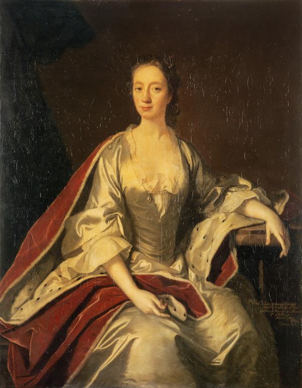 Lady Frances Wemyss, Lady Steuart Denham, 1722 - 1789 (About 1740)