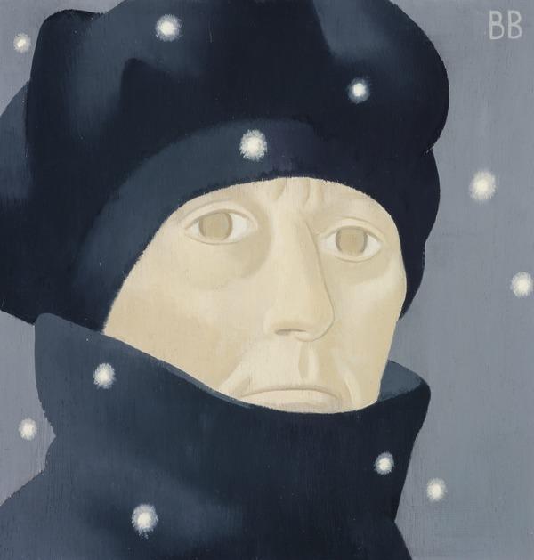 Barbara Balmer, b. 1929. Artist (Self -portrait on a frosty Friday) (1995)