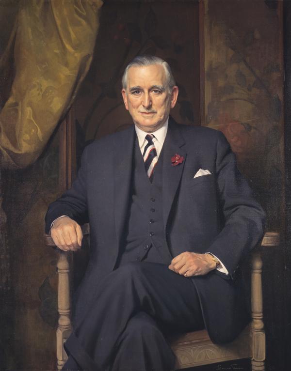 Hugh Fraser, 1st Baron Fraser of Allander, 1903 - 1966. Businessman and philanthropist (1964)