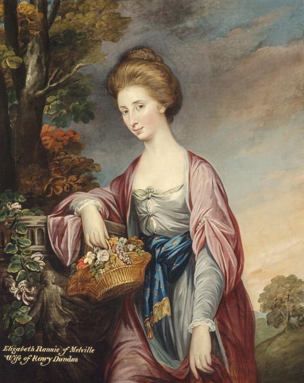 Elizabeth Rannie, Viscountess Melville, 1751 - 1843. Wife of 1st Viscount Melville. (1770)